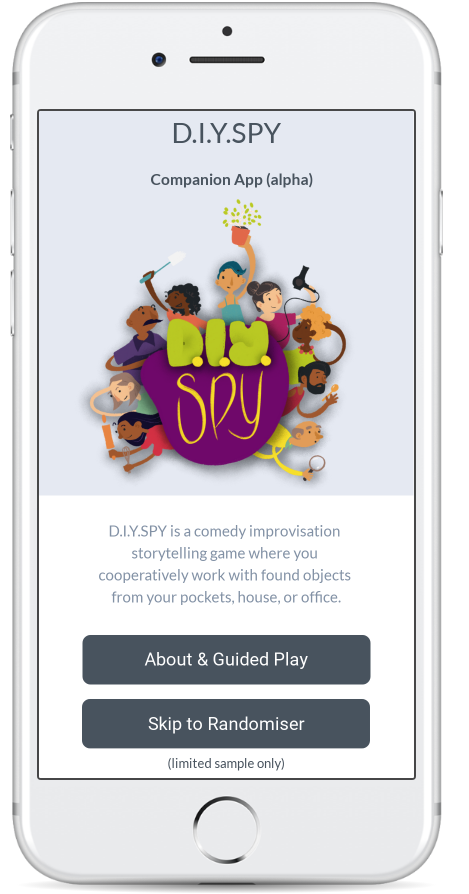 Screenshot of App in iPhone view.
